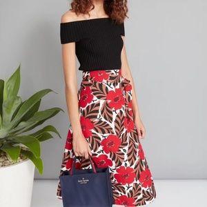 NEW Kate spade new york poppy field wrap skirt